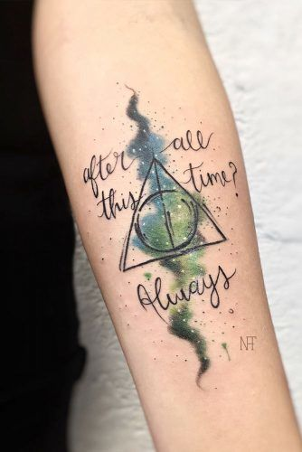 Harry Potter Quotes Tattoos #quotetattoo #deathlyhallowstattoo