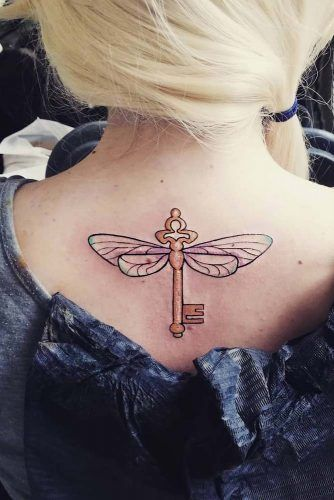 Flying Key Tattoo Idea #flyingkey