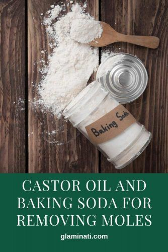 Castor Oil And Baking Soda For Removing Moles #bakingsoda