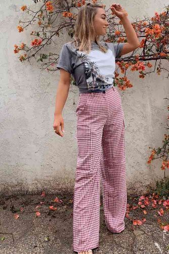 Wide Leg Pants With Side Pockets With T-shirt Outfit #widelegpants #tshirt