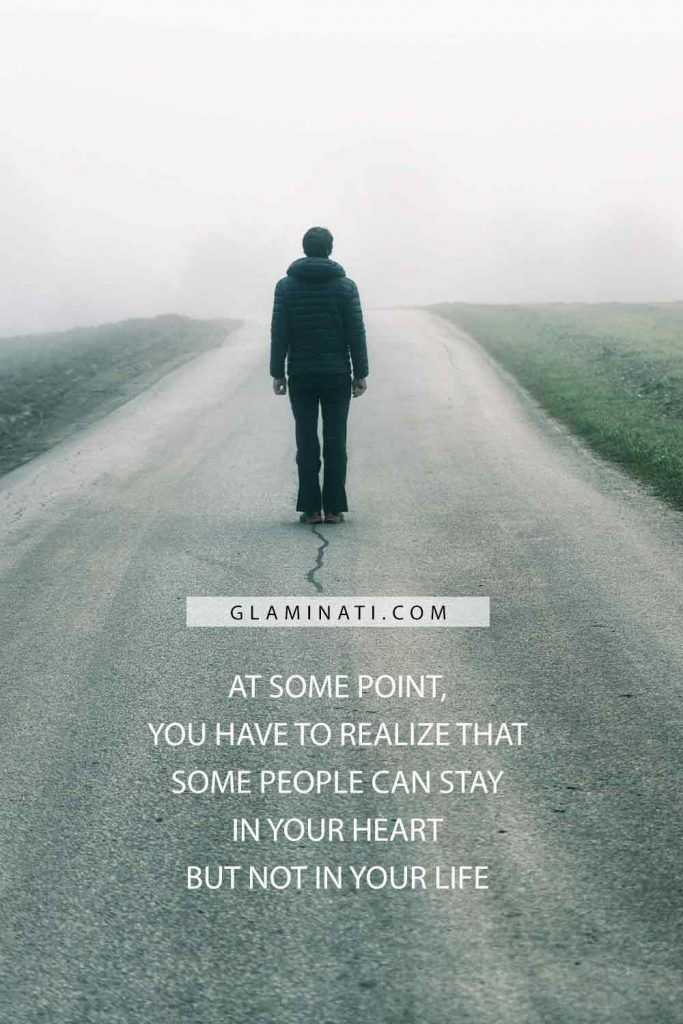 At some point, you have to realize that some people can stay in your heart but not in your life #life #sadness
