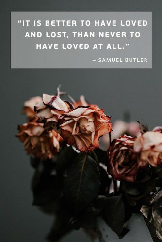 It is better to have loved and lost, than never to have loved at all. ― Samuel Butler #lovequotes #quotes