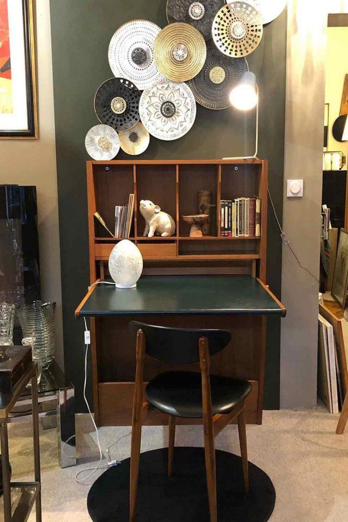 Retro Secretary Desk And Chair Set #boxes #walldecor