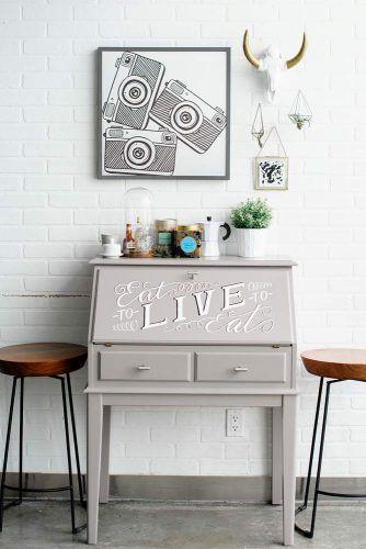 Small Painted Secretary Desk #paintedsecretarydesk