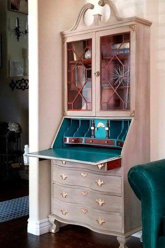 Vintage Secretary Desk With Hutch #vintagefurniture