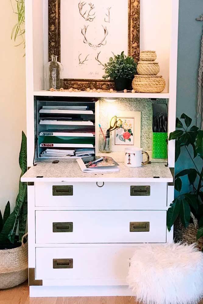 Modern Secretary Desk With Hide Away Office #modernfurniture #workspace