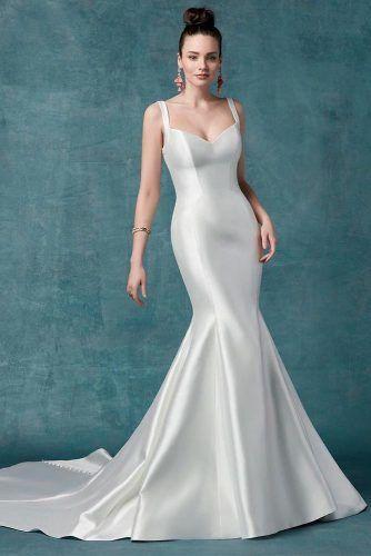 Satin Mermaid Wedding Dress #mermaiddress #satindress