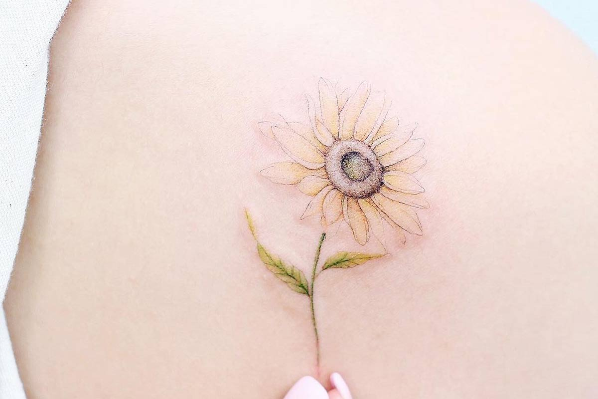 Get Yourself Inspired With Our Sunflower Tattoo Ideas