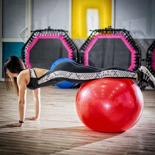 Stability Ball Push-Up #ballpusup #stabilityexercise