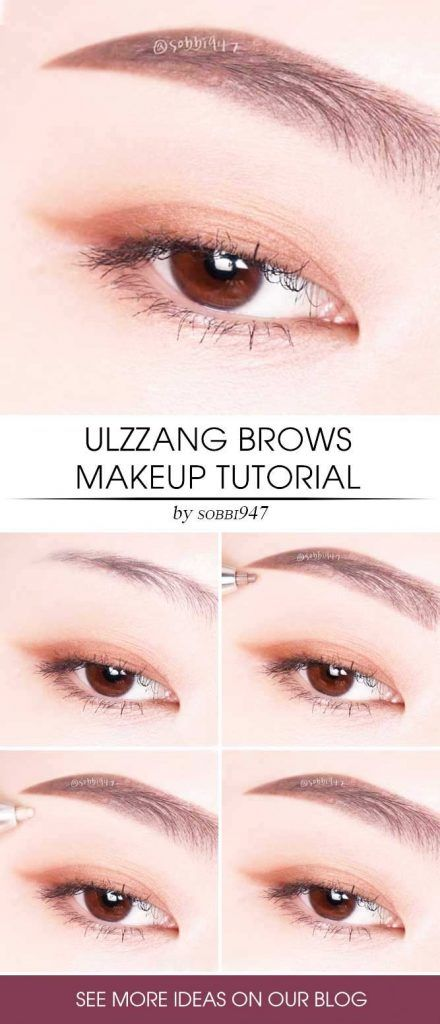 Ulzzang Brows Makeup Tutorial #browstutorial