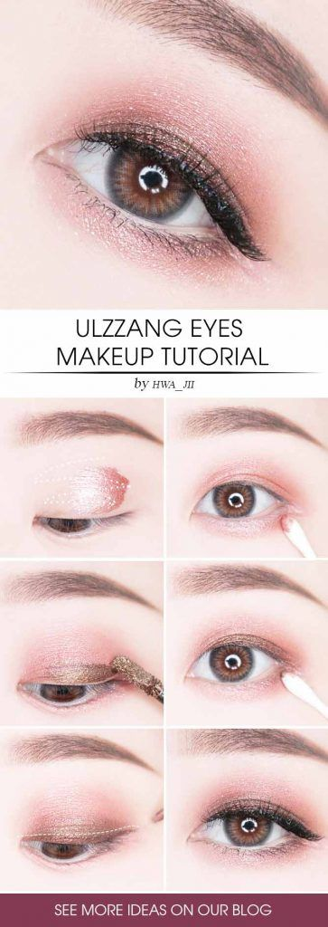 Ulzzang Eyes Makeup Tutorial #eyesmakeup #diymakeup
