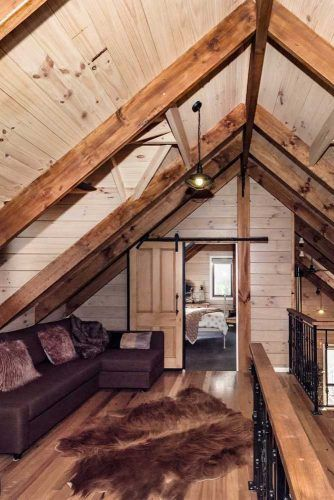 Second Living Space With Wood Vaulted Ceiling #livingspace