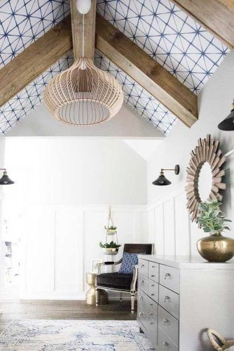 Wallpaper Vaulted Ceiling #woodenbeams