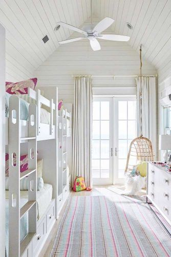 Kids Bedroom With Vaulted Ceiling #kidsbedroom
