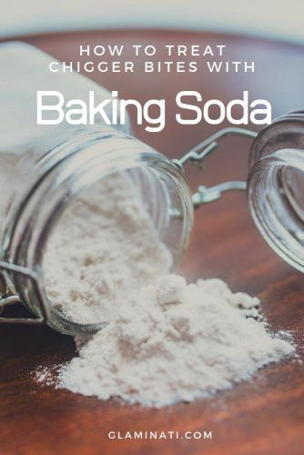 Chigger Bite Treatment With Baking Soda #health #chiggers