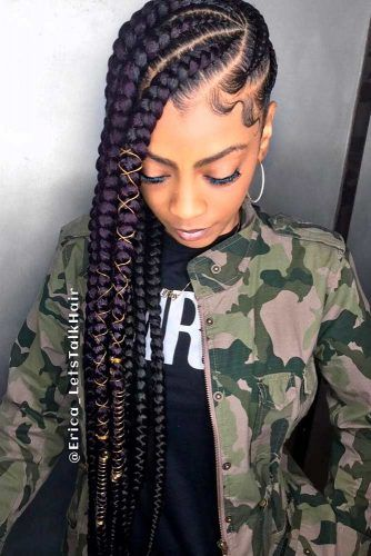 Bold And Thick Cornrows #longhair #braids