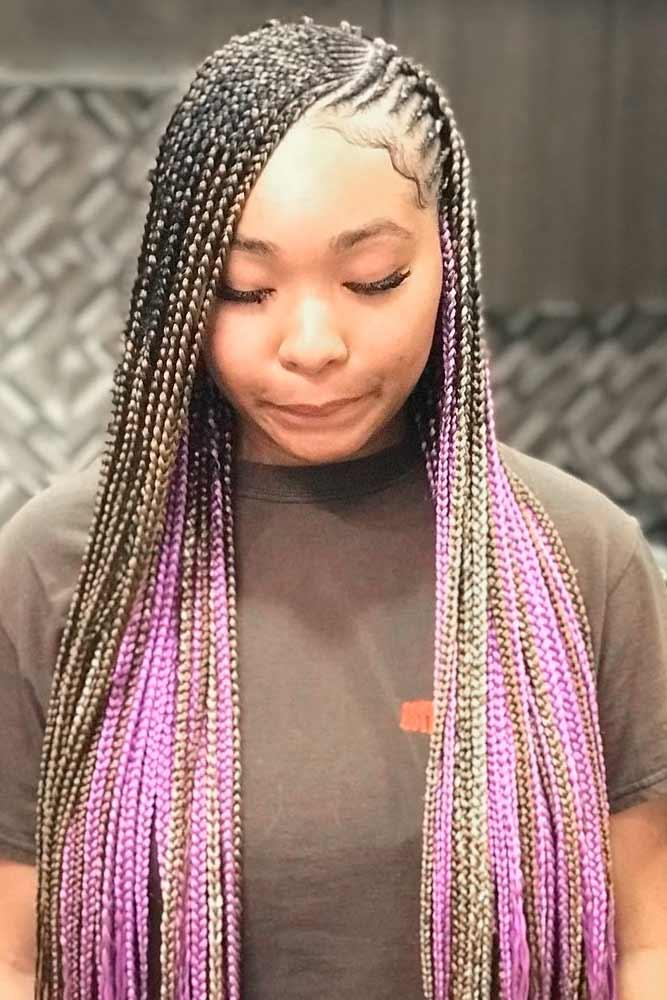 Thin And Bright Lemonade Braids #colorfulhair #braids