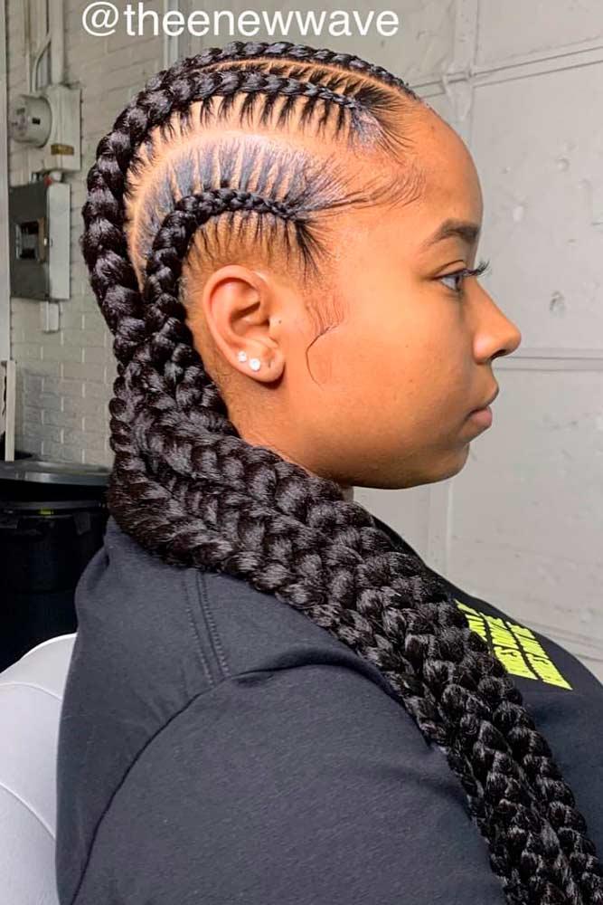 Simple Straight-Backs #braids #longhair