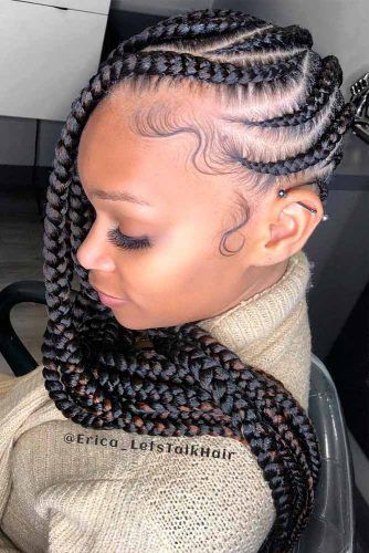 Zig-Zag Lemonade Braids #lemonadebreaids #beaidedhair