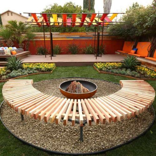 Backyard Space With Camp Fire #campfiredesign