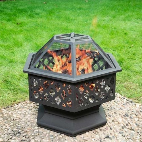 Close Metallic Fire Pit Design #closefirepit