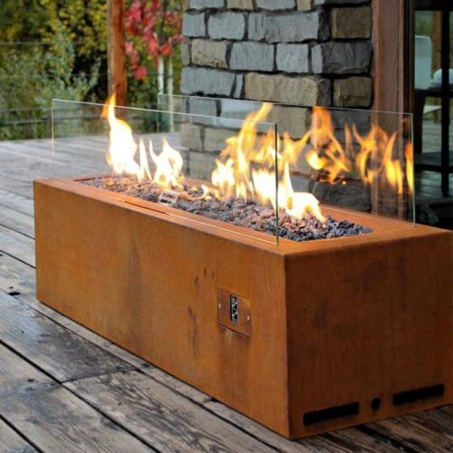 Fire Pit With Glass #moderndesign