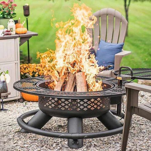 Metallic Fire Pit Design #roundfirepitdesign