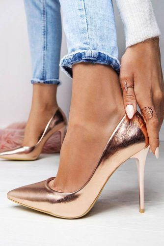 Classy Closed Toe Stiletto Heels #stilettoheels #closedtoeheels