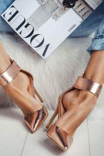 Classy Ankle Strap Closed Toe Heels #anklestrapheels #closedtoeheels