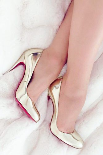 Gold Red Bottom Heels #redbottomheels