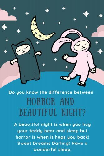 Do you know the difference between horror and beautiful night? #lovequotes #inspirationalquotes