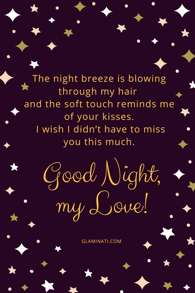 I wish I didn't have to miss you this much. Good night, my love! #quotes