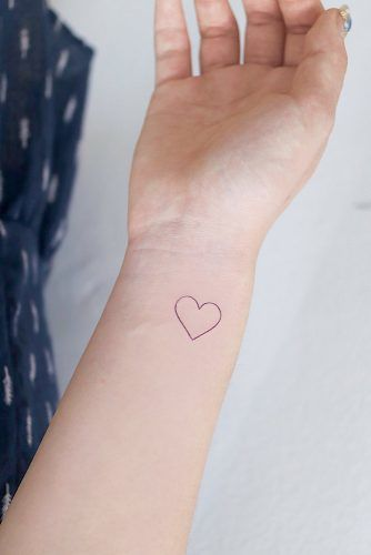 Easy Heart Tattoos On Wrist #wasytattoo #wristtattoo