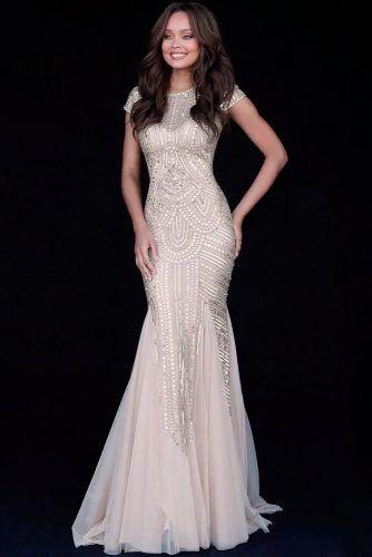 Sparkly Wedding Dress With Bohemian Pattern #bohemianweddingdress