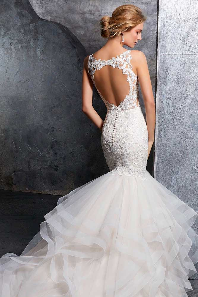 Portrait Back Wedding Dress #portraitback #weddingdress