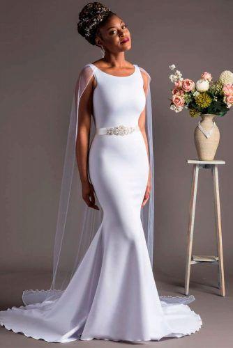 Elegant Mermaid Dress With Greek Motives #simpleweddingdress #greekweddingdress