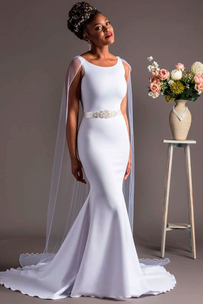 Elegant Mermaid Dress With Greek Motives #simpleweddingdress #greekweddingdress
