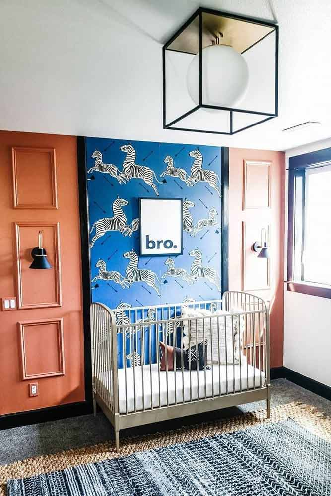 Nursery Idea For Boy In Bright Colors And Funny Paint #paintedwall #boynursery