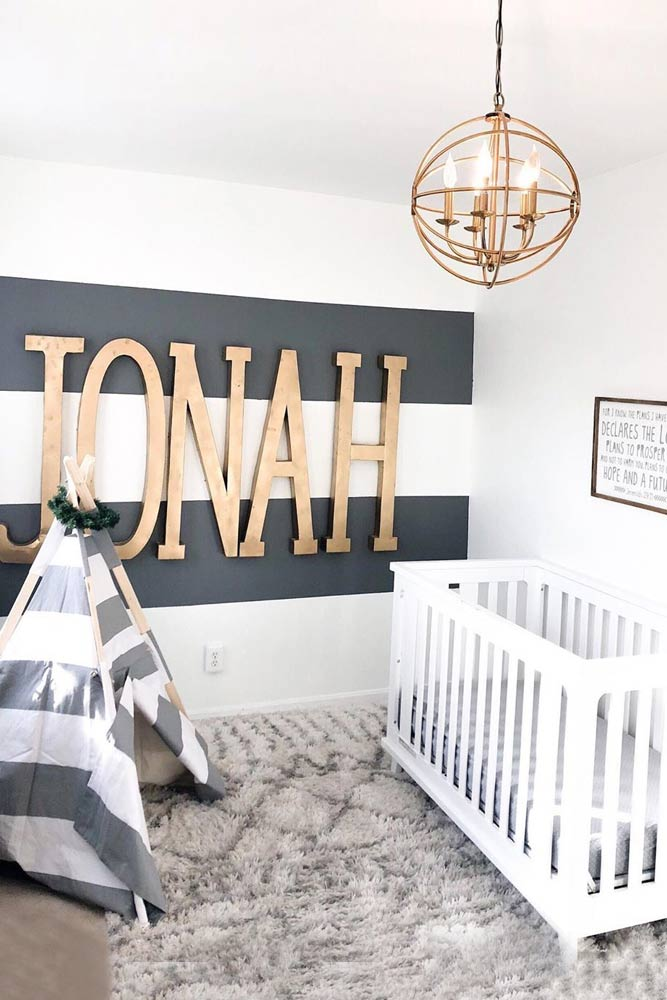 Personalized Nursery For Boy With Baby House #babyhouse