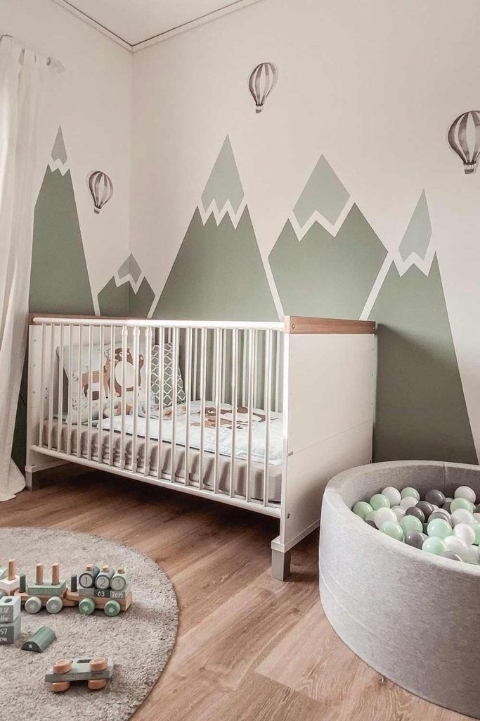 Nusery Idea With Painted Walls
