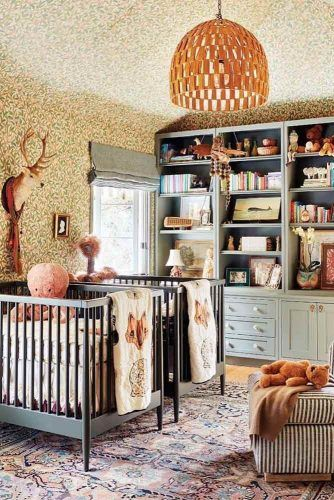 Classic Nursery Design For Twins #foxdecor #twinnursery