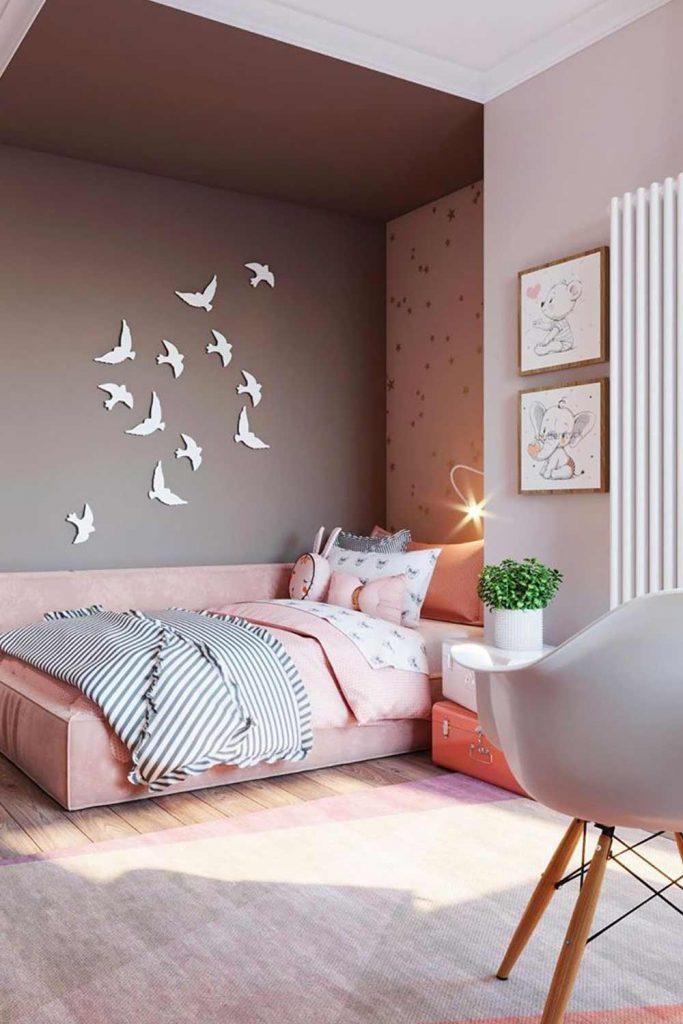 Cute Nursery Idea With Birds On Wall