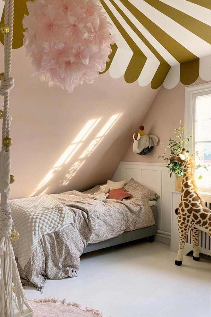 Cute Nursery Ideas For Room Under Roof