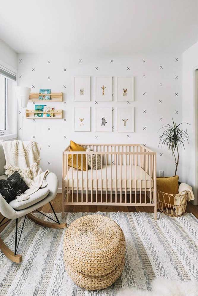 Nursery With Painted Wall #floatingshelves