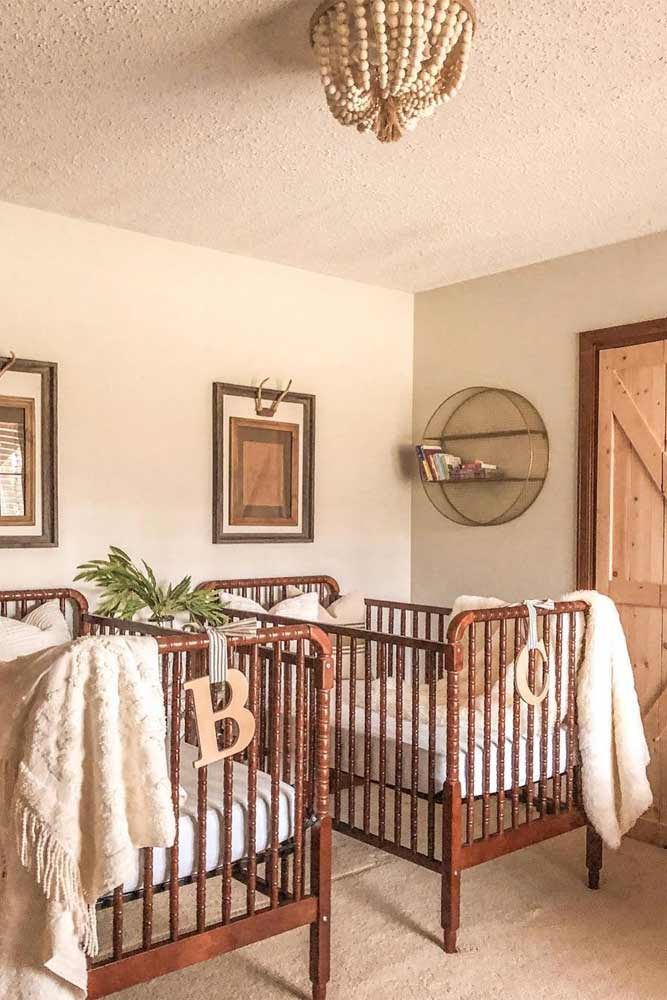 Neutral Colors For Twin Nursery #twinnursery #neutralnursery