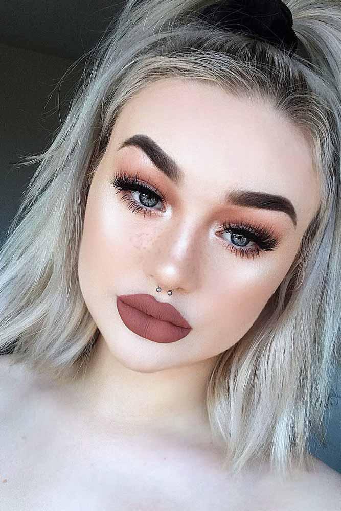 Nude Makeup Idea For Pale Skin #nudelipstick