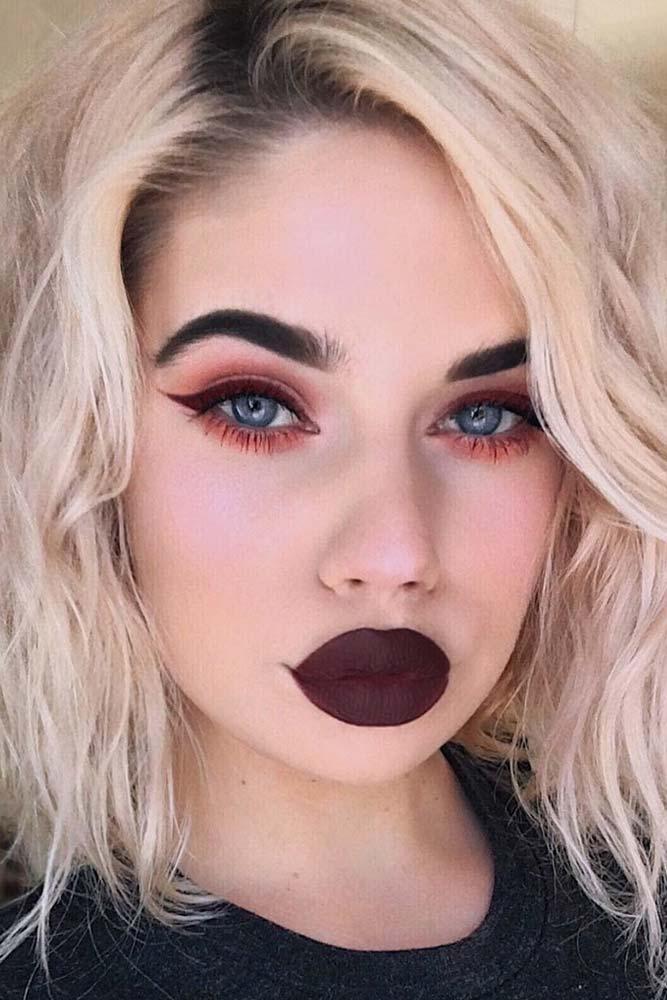 Makeup In Dark Shades For Pale Skin #mattelipstick