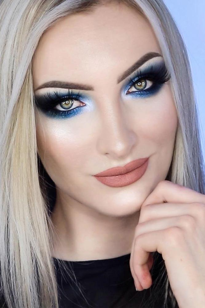 Smokey Eyes Makeup For Pale Skin #bluesmokey