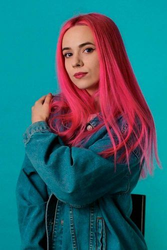 Pink Hair - Fresh Looks For Trendy And Brave Ladies #coloredhair #longhair #straighthair