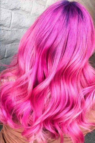 Bubblegum Pink #brighthaircolor #wavyhair